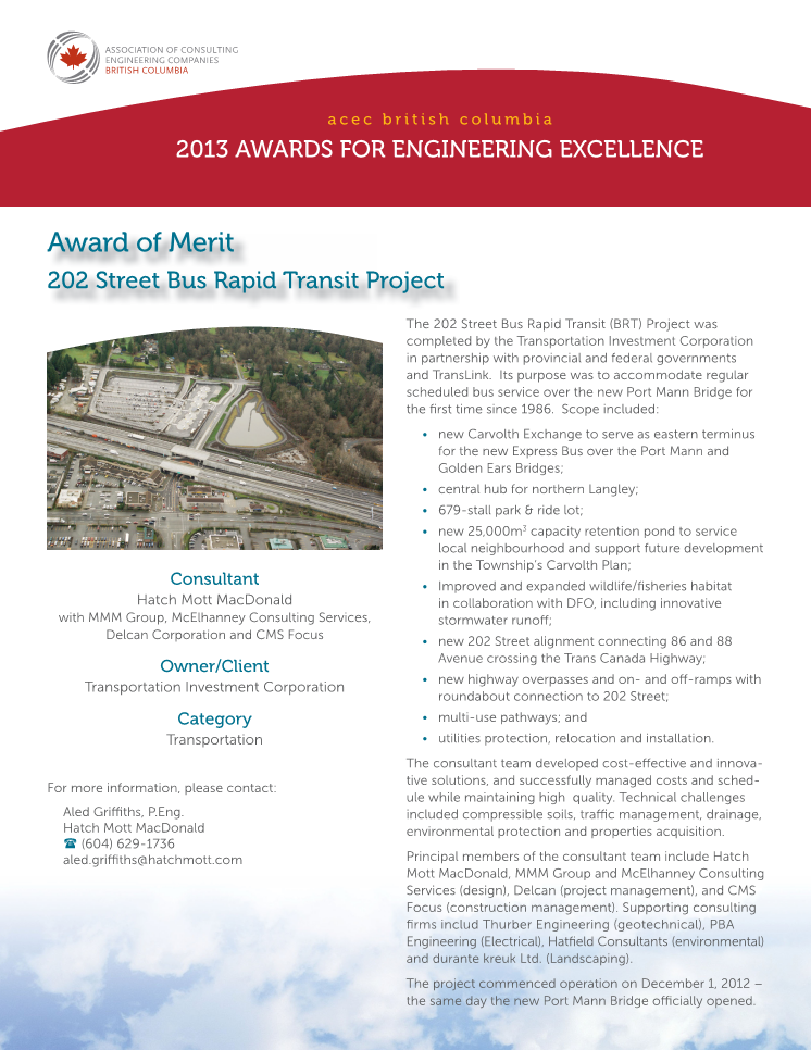 acec award of merit 2013