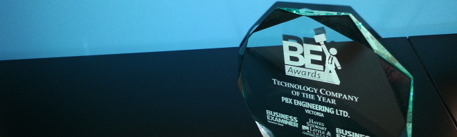 PBX Engineering Awarded Technology Company of the Year